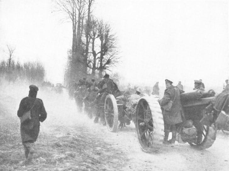 British retreat in Operation Michael, World War I