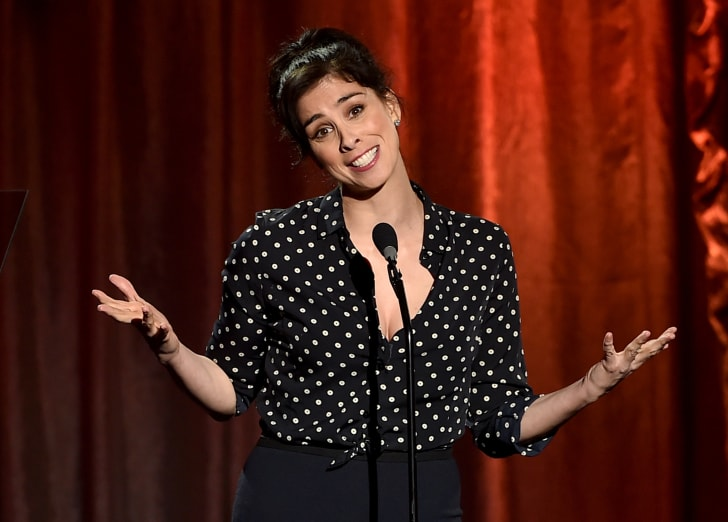 Actress Sarah Silverman speaks onstage