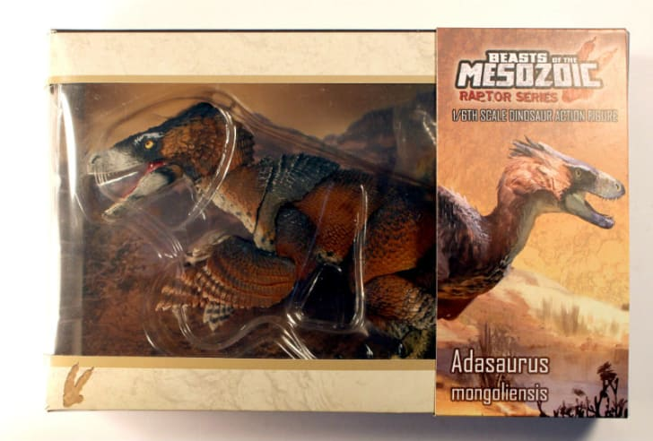 A Beasts of the Mesozoic action figure in retail packaging