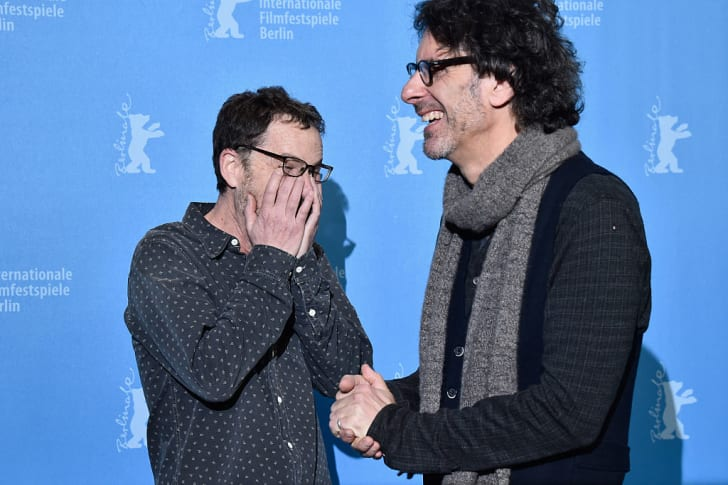 Directors Ethan Coen (L) and Joel Coen attend the 'Hail, Caesar!' photo call during the 66th Berlinale International Film Festival Berlin at Grand Hyatt Hotel on February 11, 2016 in Berlin, Germany