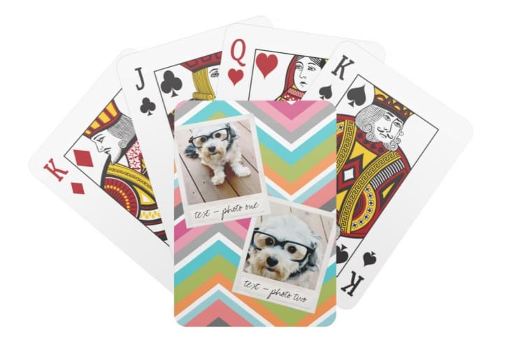 customizable Instagram playing cards