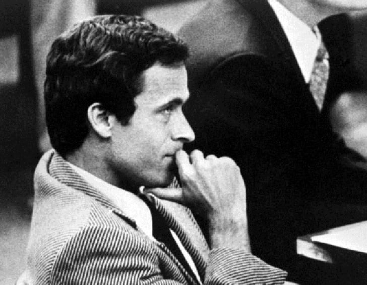 Ted Bundy sits in a Florida courtroom