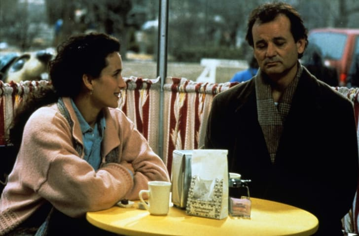 Bill Murray and Andie MacDowell in Groundhog Day (1993)