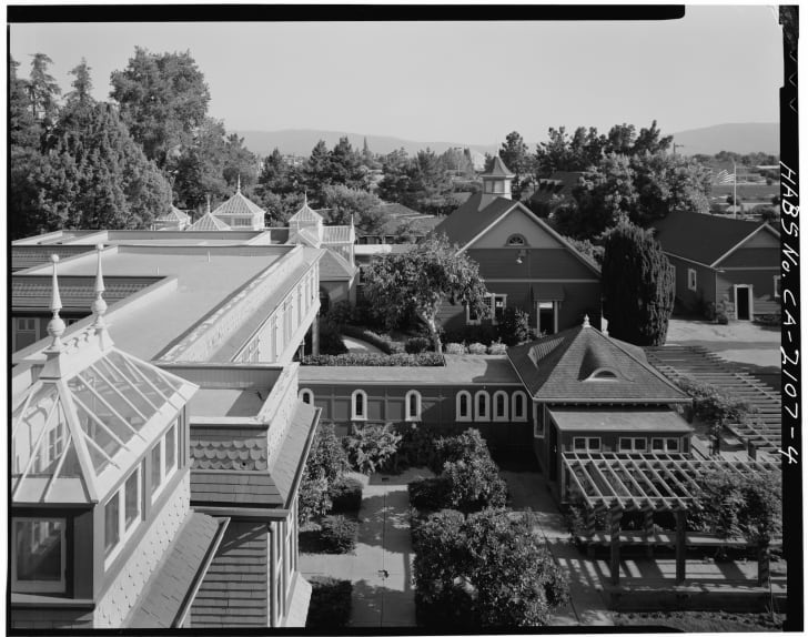 View from Winchester House, looking south from top floor