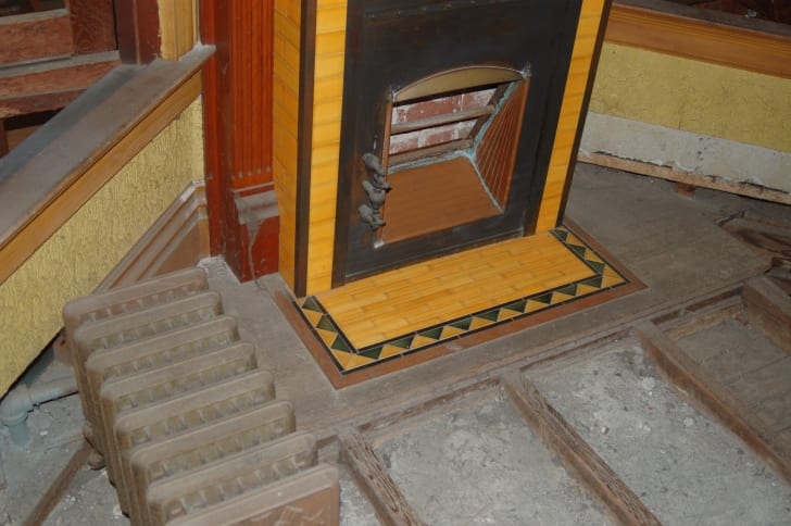 Winchester House's freestanding fireplace