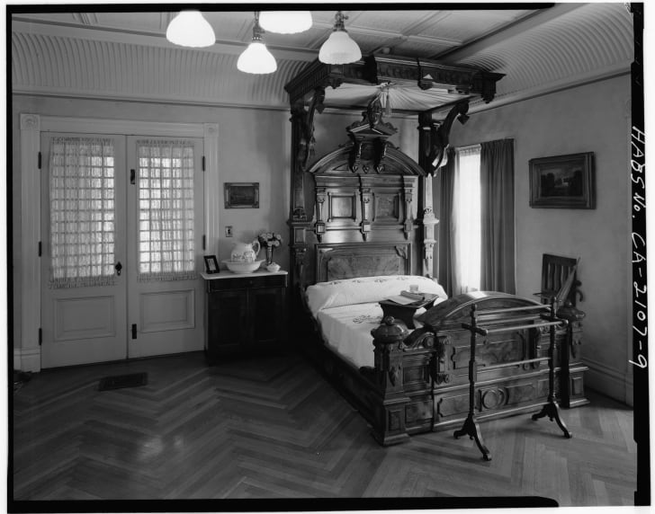 Sarah Winchester's bedroom, on the second floor of Winchester House