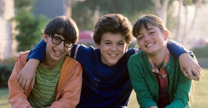 Fred Savage, Danica McKellar, and Josh Saviano in 'The Wonder Years'