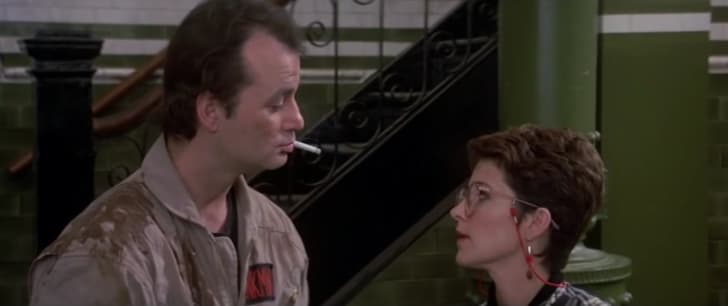 A screen shot from the 1984 film 'Ghostbusters'
