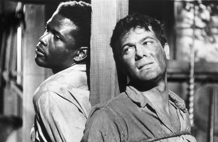 Tony Curtis and Sidney Poitier in 'The Defiant Ones' (1958)