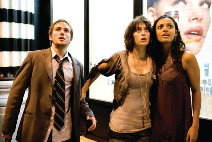 Lizzy Caplan, Jessica Lucas, and Michael Stahl-David in Cloverfield (2008)