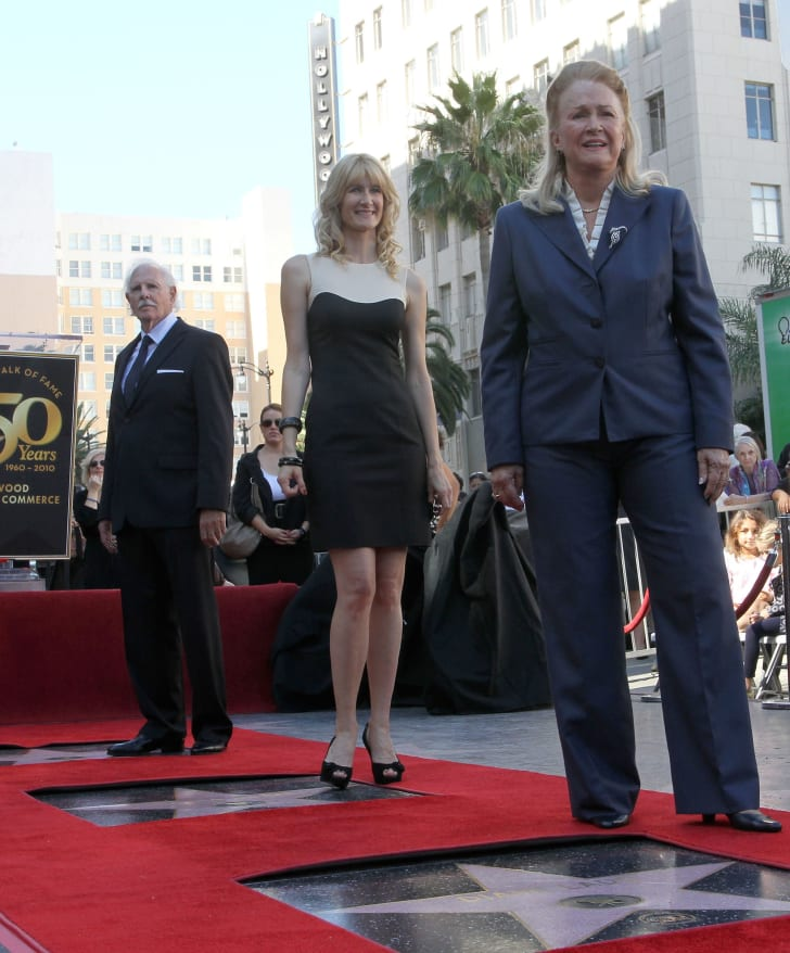 Bruce Dern, Laura Dern, and Diane Ladd each received a star on the Walk of Fame on the same day.