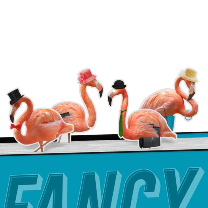 Magnetic Bookmarks Fancy Flamingos