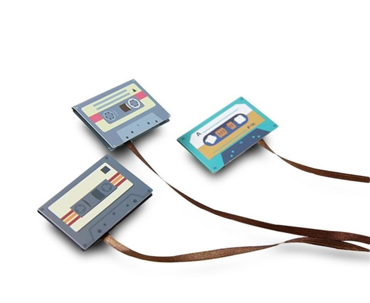 Magnetic Retro Classical Cassette Decorative Paper Clip Bookmark