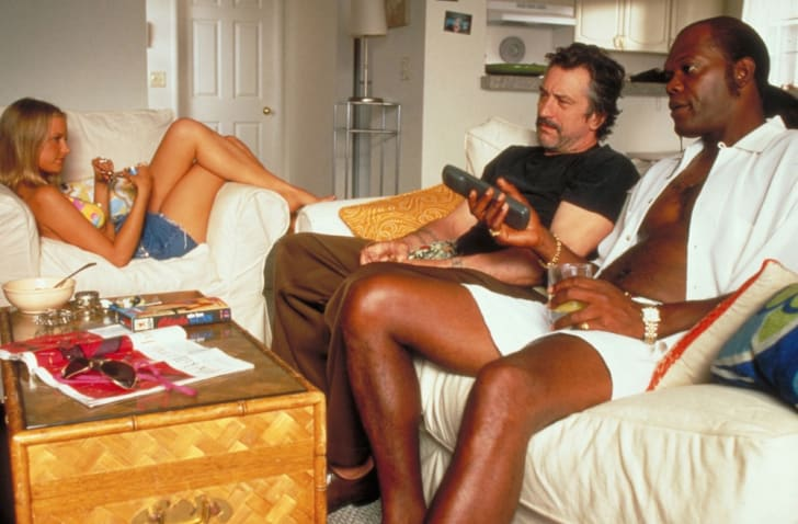 Bridget Fonda, Robert De Niro, and Samuel L. Jackson in 'Jackie Brown' (1997)