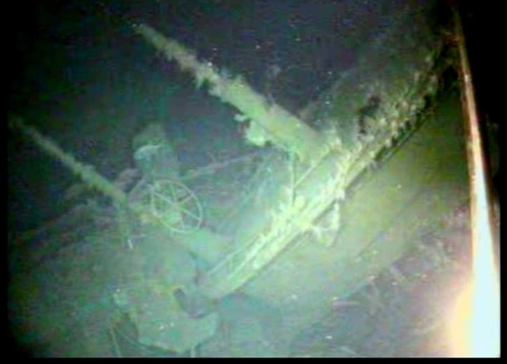 Wreckage of Australian World War I naval submarine HMAS AE-1
