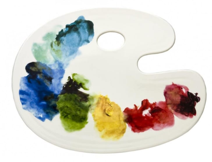 Artistic Palette Cheese Tray