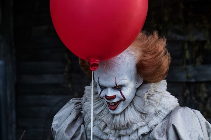Bill Skarsgård stars as Pennywise in It (2017)