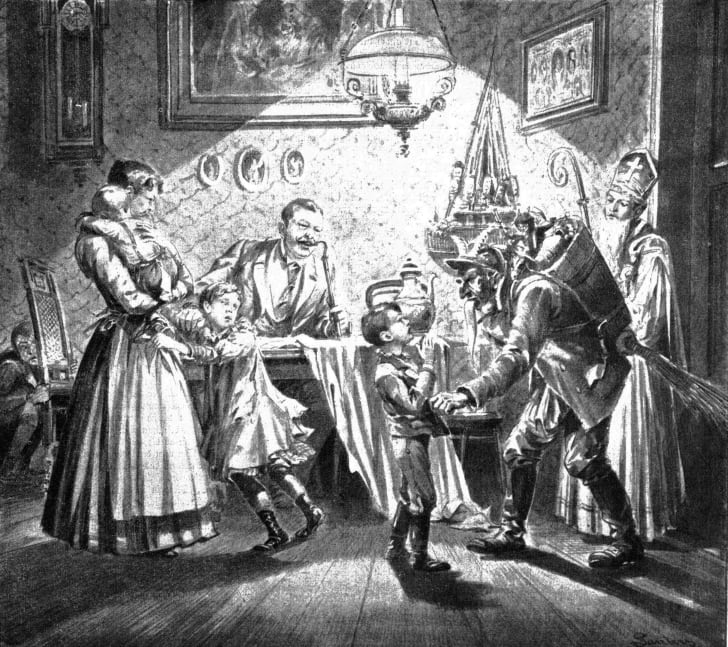 An 1896 newspaper illustration of Krampus in Austria