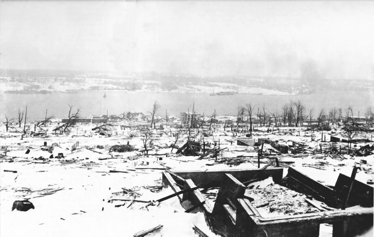 Destruction resulting from the 1917 Halifax Explosion