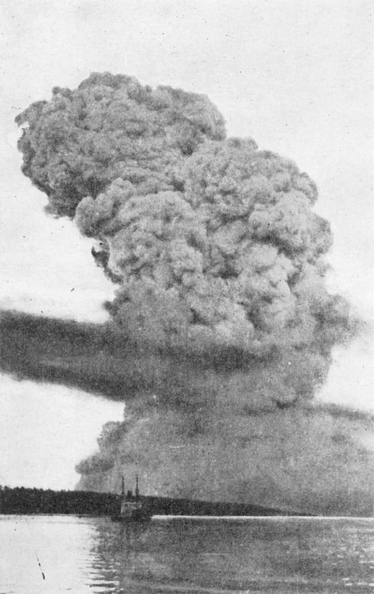 A cloud formed by the 1917 Halifax Explosion