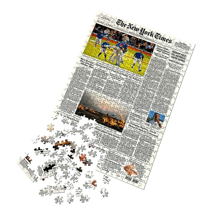 Puzzle of newspaper front page.
