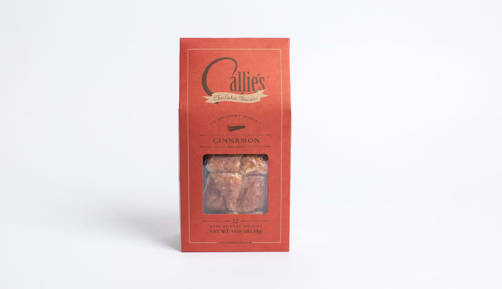 Callie's Charleston Biscuits Cinnamon Biscuits in a red package