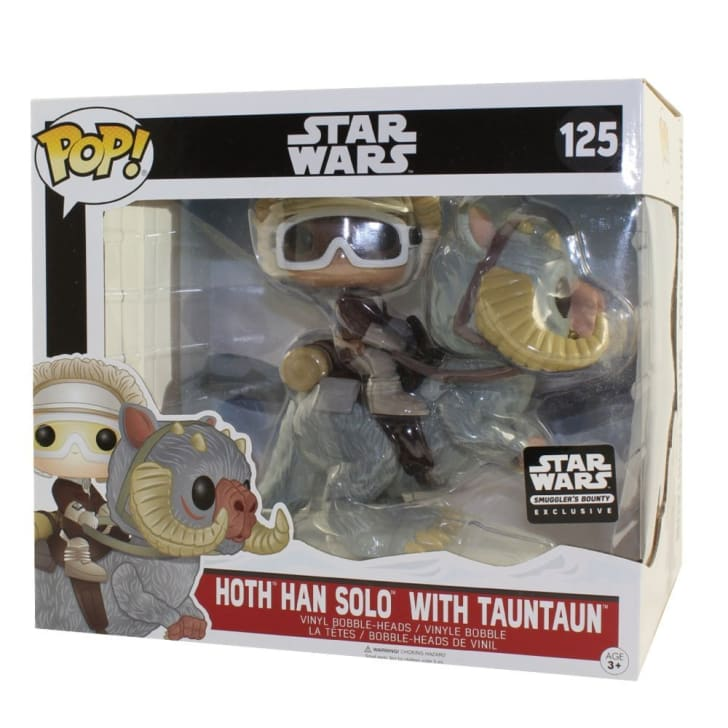 A Funko Han Solo and Tauntaun collectible figure set
