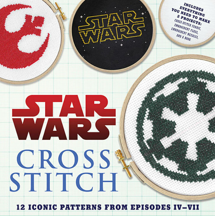The cover of a Star Wars cross stitch instructional book