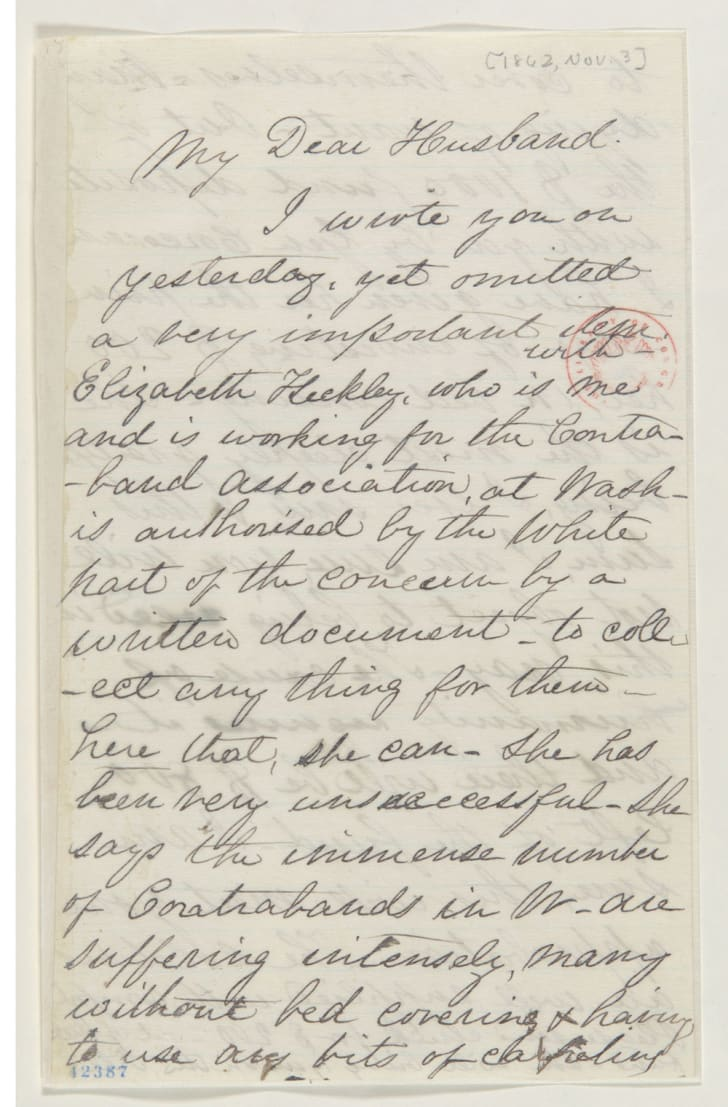 A letter from Mary Todd Lincoln to Abraham Lincoln