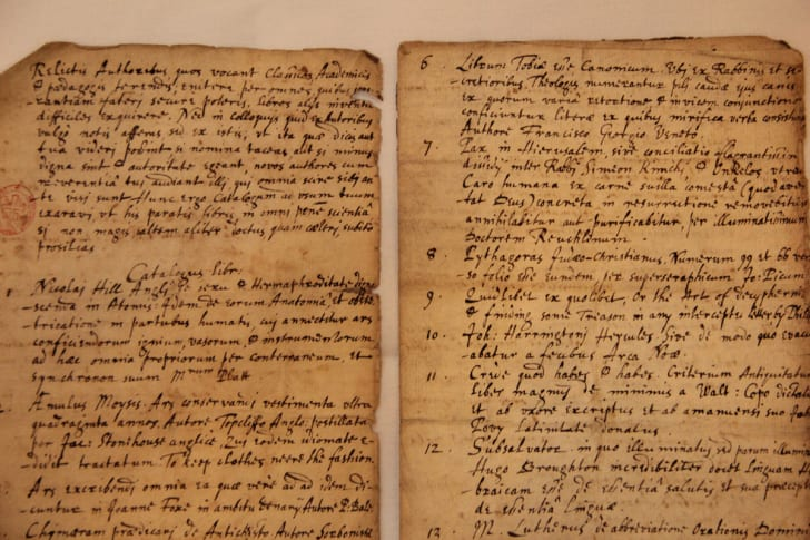 Two pages of the handwritten manuscript by John Donne