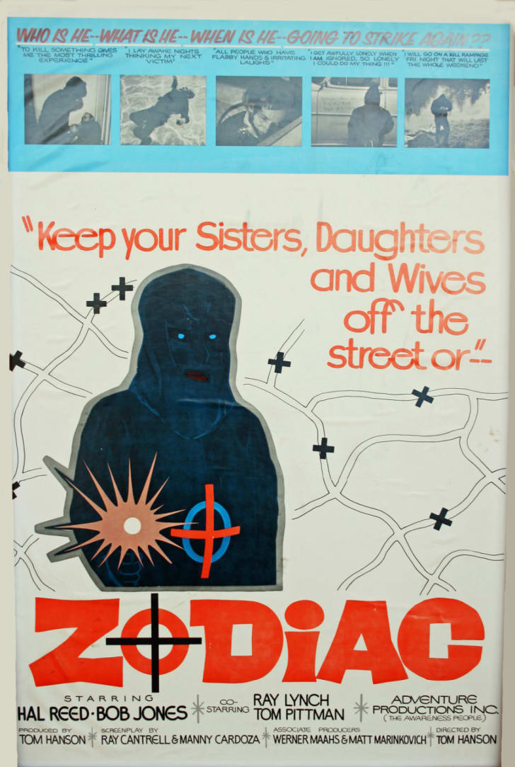 A theatrical poster for the 1971 film 'The Zodiac Killer'