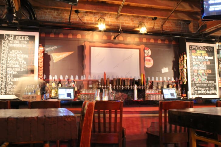 The Moe's Tavern pop-up bar at REPLAY Lincoln Park in Chicago