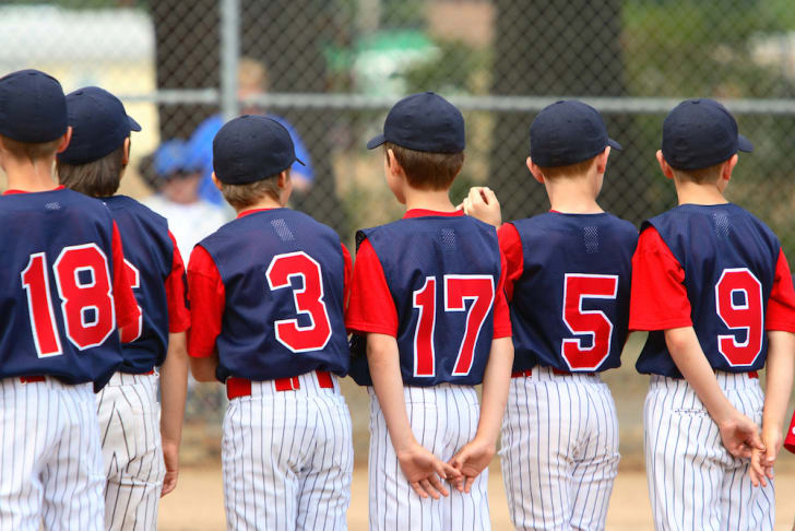 Photo of Little League baseball team