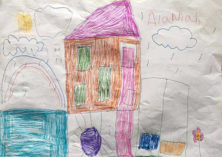 House of the future drawn by kid.
