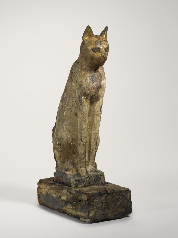An ancient Egyptian cat coffin, on display at the Smithsonian's Arthur M. Sackler Gallery.