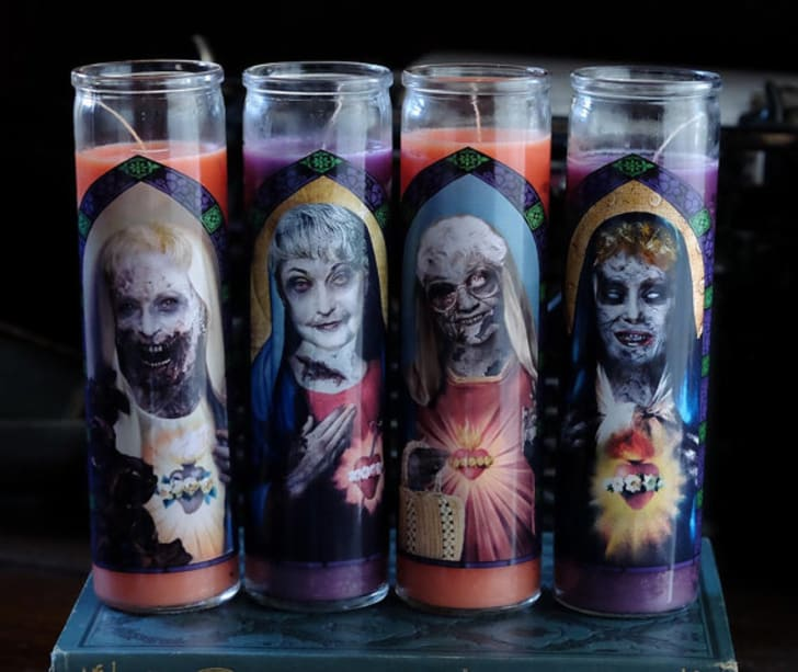 Zombie Golden Girls prayer candle set by The Eternal Flame