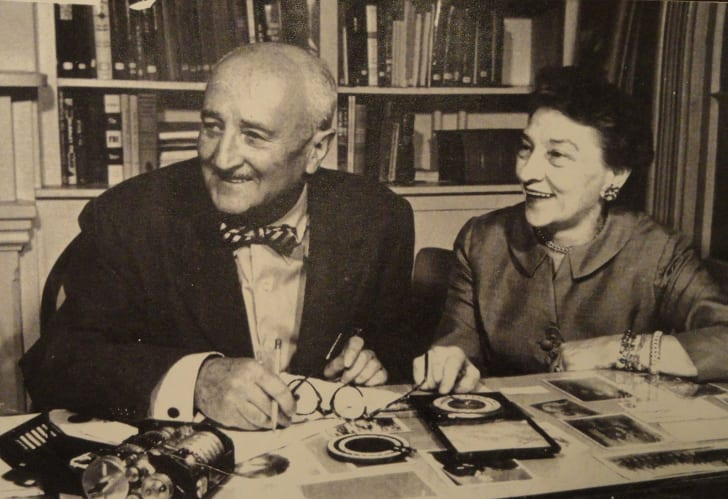A photograph of William F. Friedman and Elizebeth Smith Friedman, probably in the 1950s