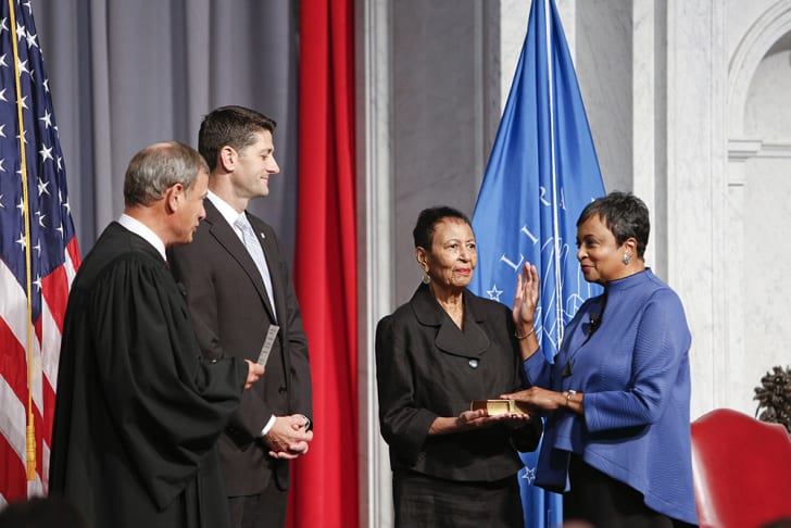 Carla Hayden at her swearing-in ceremony