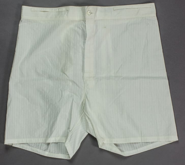 A pair of white undershorts that belonged to Hitler in 1938