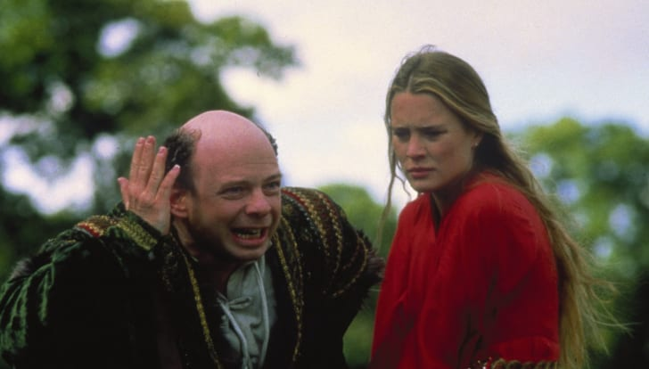 Wallace Shawn and Robin Wright in The Princess Bride (1987)