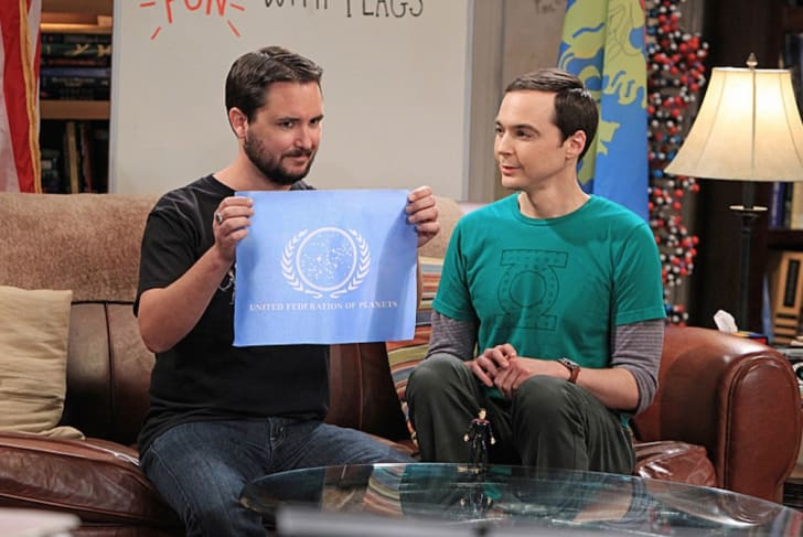 Wil Wheaton and Jim Parsons in a scene from The Big Bang Theory.