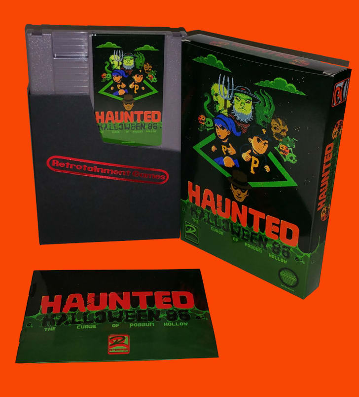 The box art for 'Haunted Halloween 1986'