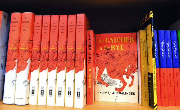 A supply of Catcher in the Rye copies by author J.D. Salinger