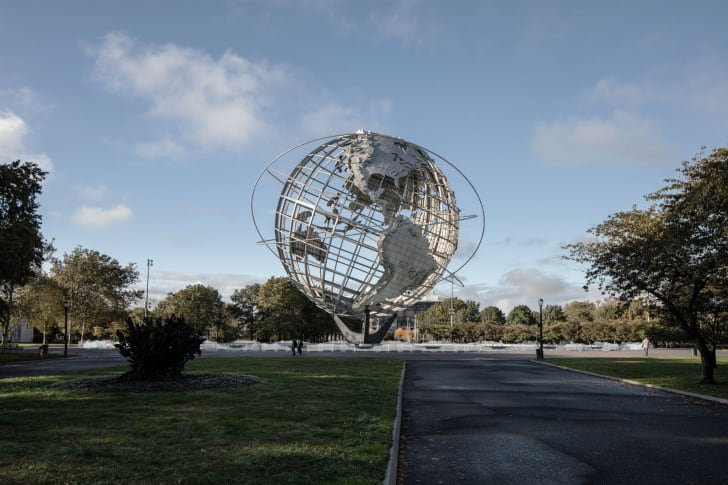 """Rendering of one piece in the multi-part Public Art Fund project """"Ai Weiwei: Good Fences Make Good Neighbors"""" at the Unisphere."""