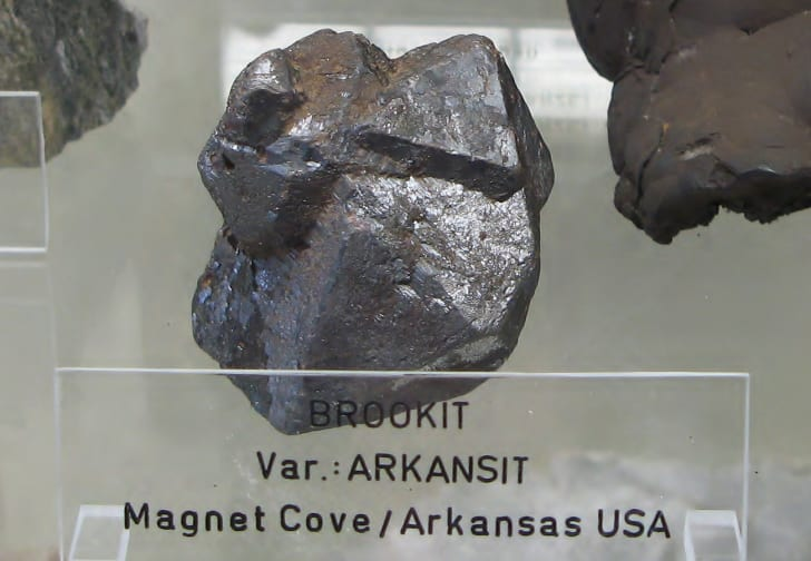A hunk of Brookite found in Magnet Cove, Arkansas