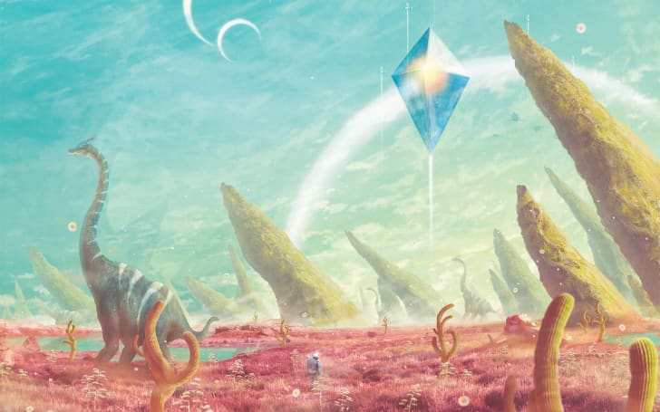 "Orioto's piece ""A New Sky"" based off the video game ""No Man's Sky"""