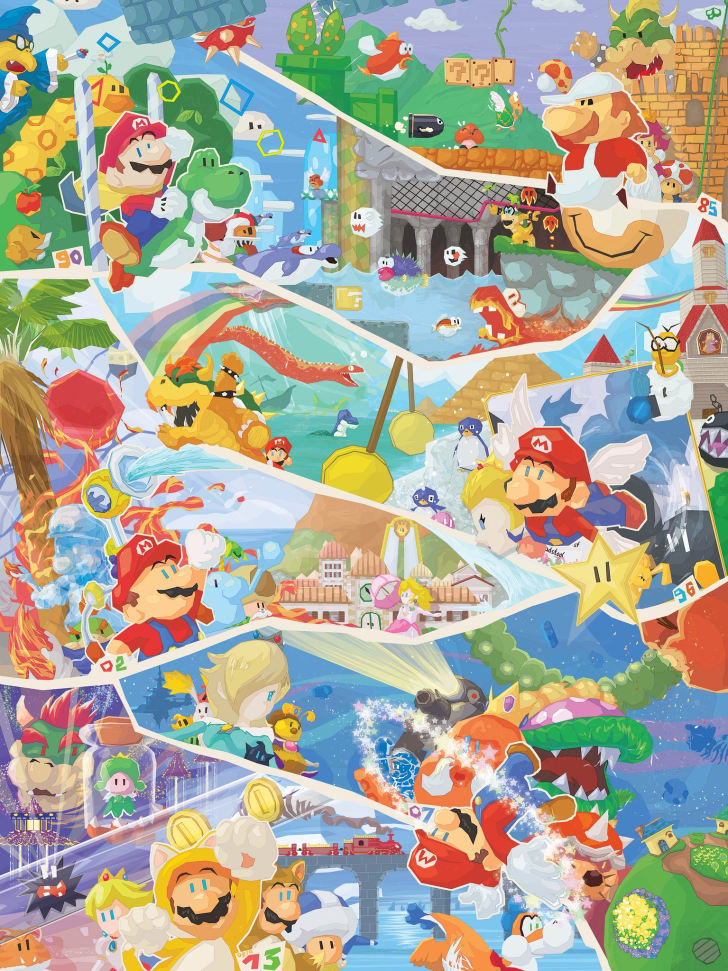 "Orioto's piece ""30 Years of Mario"" based off the ""Super Mario"" video game franchise"