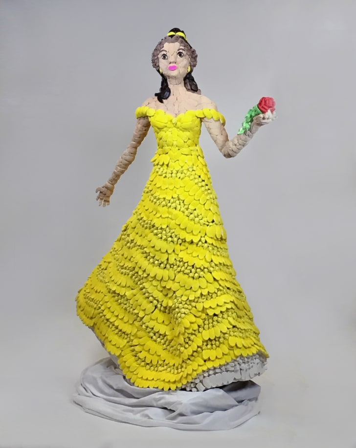 A Belle sculpture