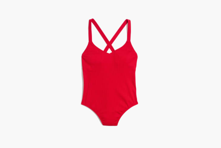 A red swimsuit