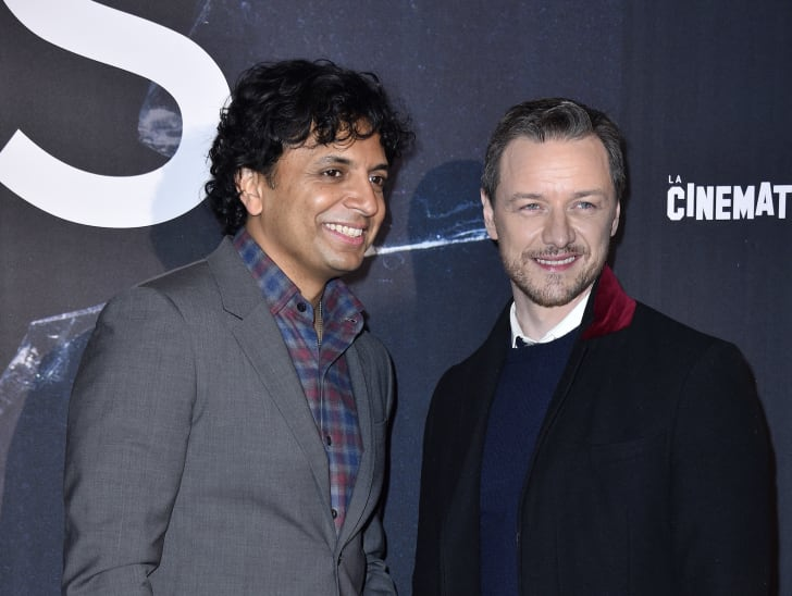 """M. Night Shyamalan and James McAvoy attend the """"Glass"""" Paris Gala Screening at la Cinematheque Francaise on January 07, 2019 in Paris, France"""
